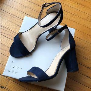Michael Shannon-Navy blue strap heels